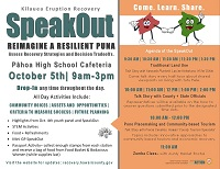 SpeakOut Events Happening Oct. 4-5
