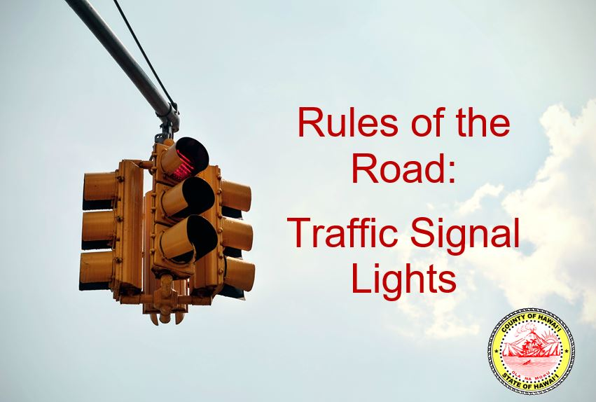 Rules of the Road Traffic Signal Rules