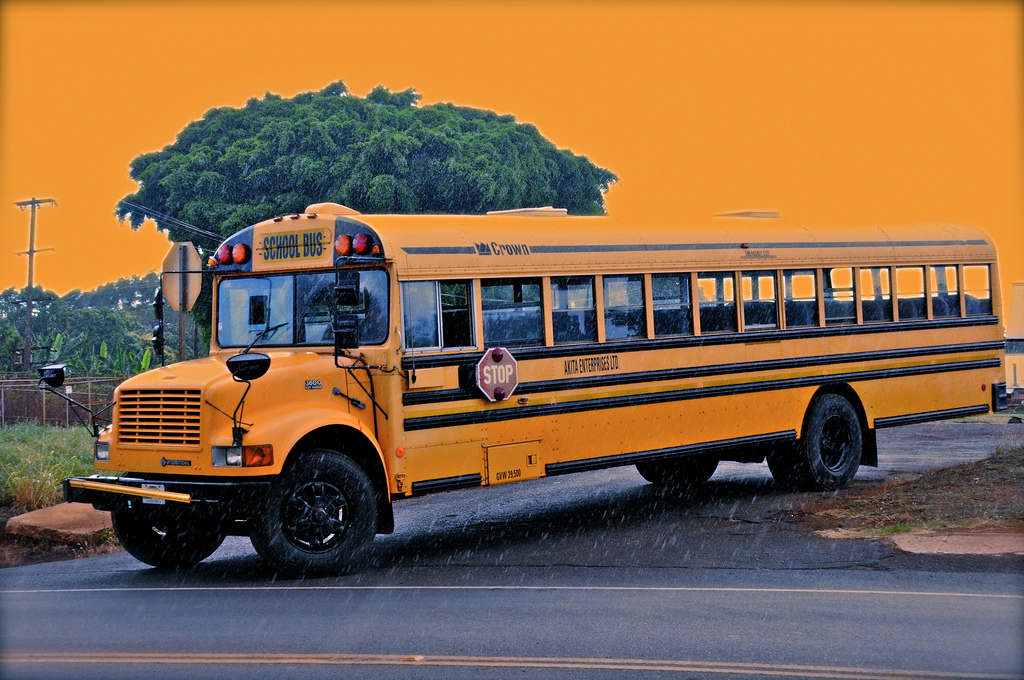 Akita Enterprises LTD Bus Used on Ka'u After School Bus route