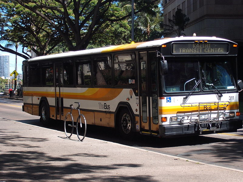 Hele-On 1995 Gillig Phantom Bus (Painted in Gold Stripes)